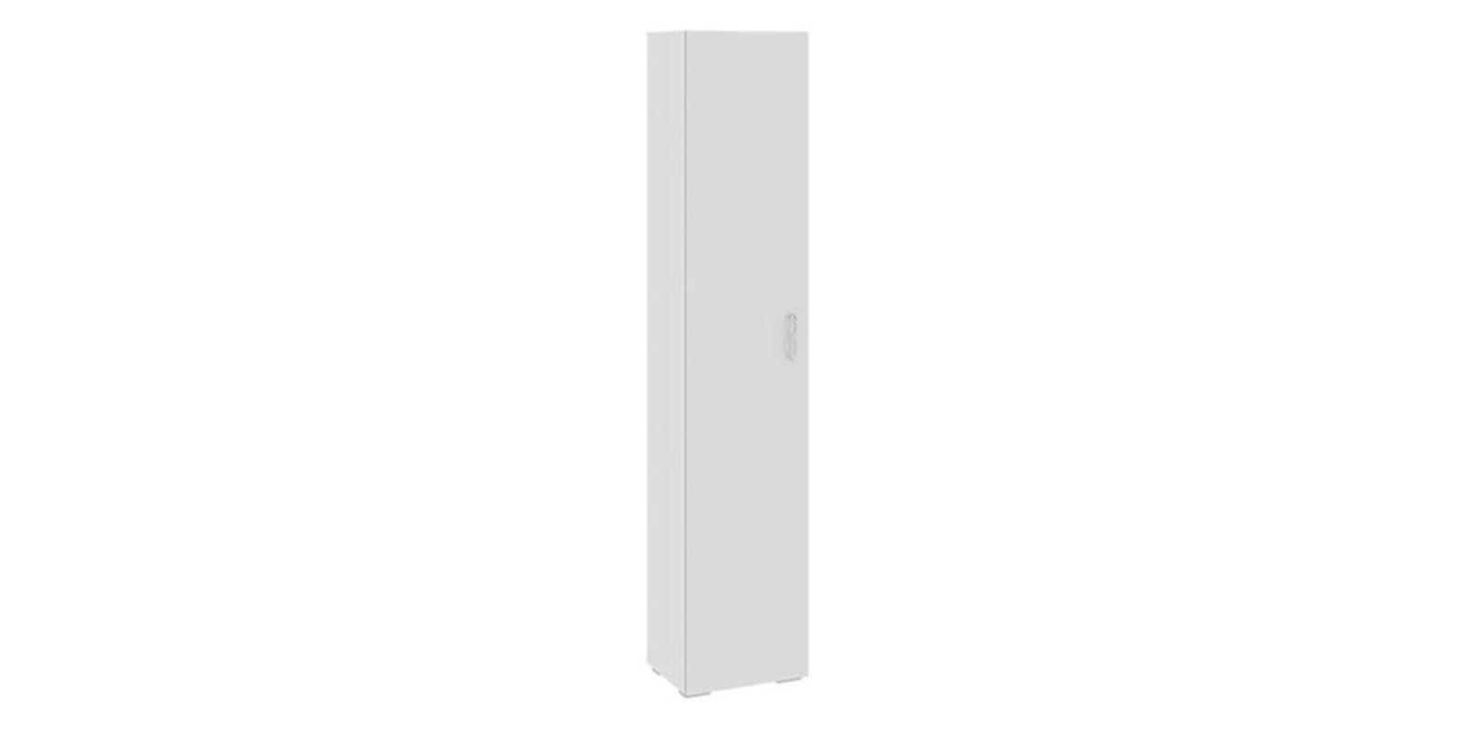 Шкаф распашной однодверный давос вариант 1 (белый матовый).